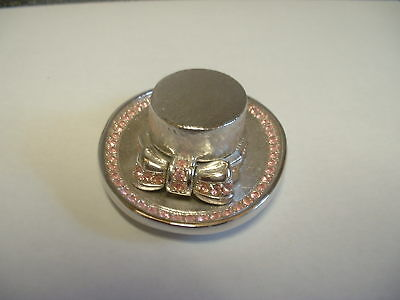 "1 Estee Lauder Solid Perfume Compact ""Straw Hat"" in Original Box"