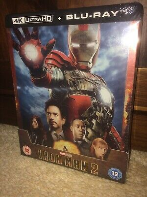 Iron Man 2 4k UHD Blu Ray Steelbook New & Sealed Zavvi Exclusive SOLD OUT