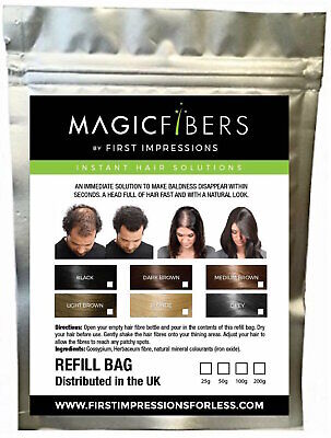 MAGIC Hair Fibers refill bag - Hair Loss Thickening Fibres Keratin 25/50/100g