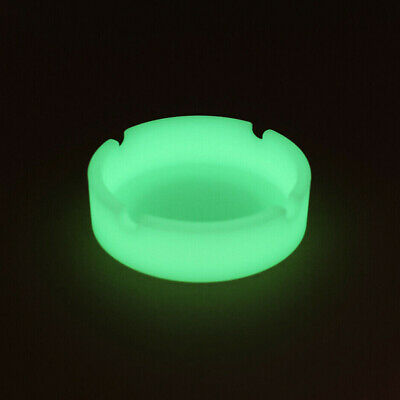 Glow In The Dark Luminous Silicone Soft Ashtray For Smoking Cigarette Cigar J7