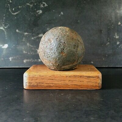 Metal Detecting Find - Post Medieval Cannon Ball ? - Cast Iron 1kg - Civil War?