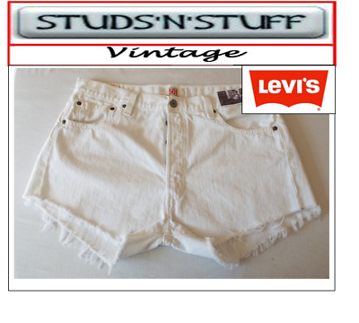 "Levis  Vintage Womens 501'S High Waisted Shorts Size 36"" Aprox Size 16  (A38"