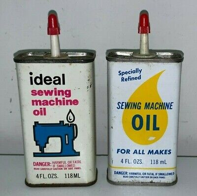 3 Vintage Sewing Machine Oilers / Oil Cans