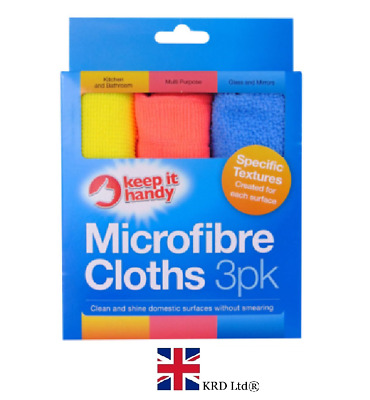 3 x MICROFIBRE CLOTHS PACK Soft Edgeless Flawless Car Detailing Definition UK