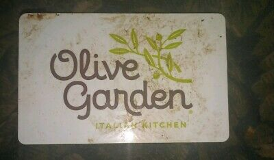 Olive Garden * Used Collectible Gift Card - NO VALUE * White Background