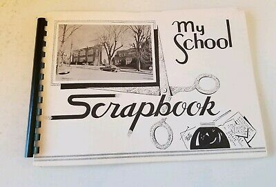 Vintage 1950's 60's My School Scrapbook New