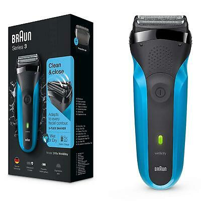 Braun Series 3 310 s Wet & Dry shaver for men rechargeable, blue