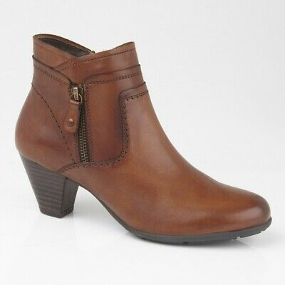 Ladies Smooth Tan Leather Zip Fleeced Lined Cipriata SILVIA Boots Size 3-9 UK