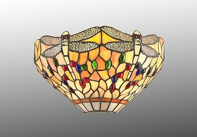 Dragonfly Stained Glass Tiffany Style Wall Light ( COMES WITH WALL FITTINGS )