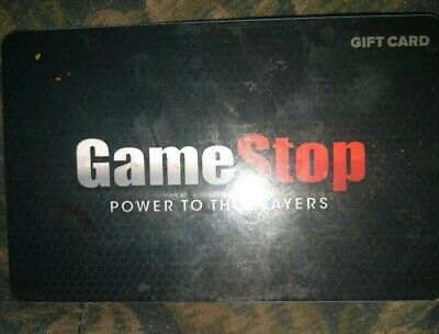 Game Stop * Used Collectible Gift Card - NO VALUE * Power To The Players Small.