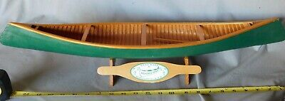 Rare canoe model Wendell Sharp Canada early 20th century wooden cedar paddles