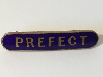 VINTAGE - PREFECT - Fattorini And Sons DARK BLUE ENAMEL BAR TYPE PIN BADGE