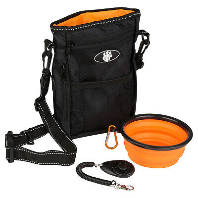 Me & My Pets Dog Walking Pouch/Bag Puppy Training Treat Bag & Water Bowl/Clicker
