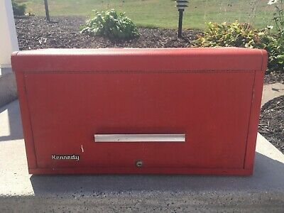 Kennedy Machinist Tool Box Model 263-8428 Locking Red  Drawers With Keys