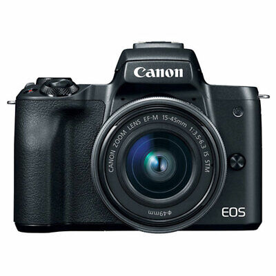 Canon EOS M50 Mirrorless Camera Kit with EF-M 15-45mm Lens and 4K Video, Black
