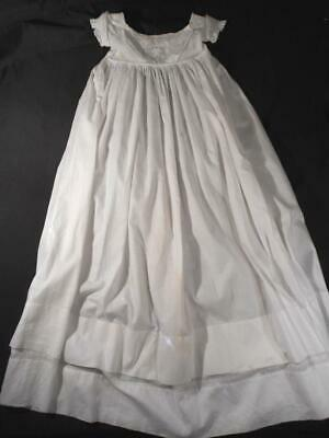Heirloom Vintage White Ayrshire Embroidered Baby,Infant Christening Gown