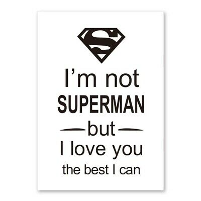 poster I am not superman but.....30x40cm