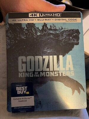 Godzilla King of The Monsters 4K Steelbook - Brand New