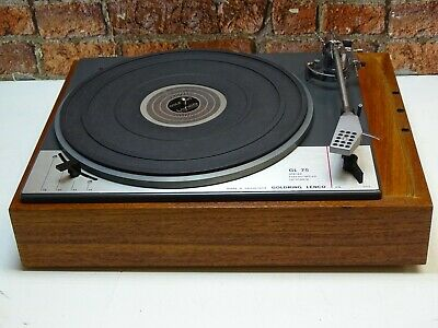 Goldring Lenco GL75 Vintage Hi Fi 4 Speed Record Vinyl Player Deck Turntable