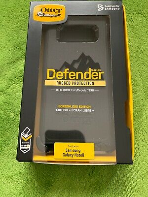 NEW Otterbox Defender Series Screenless Phone Case Samsung Galaxy Note8 Black