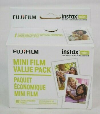 Fujifilm - instax Mini Film Value Pack (60 Sheets) - EXP: 05/20 - White - New