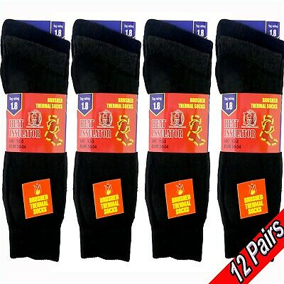 12 X Kid's Children's Boy's Girl's THERMAL SCHOOL SOCKS Winter Warmth & Comfort