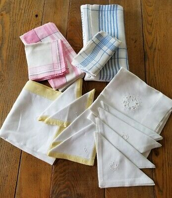 Lot Of 4 Vintage Tablecloths With Matching Napkins CUTTERS Crafts Repurpose