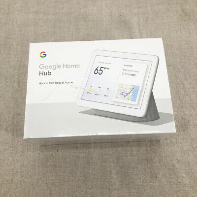 GOOGLE HOME HUB with Voice Assistant Chalk GA00516-US Smart Device NEW SEALED