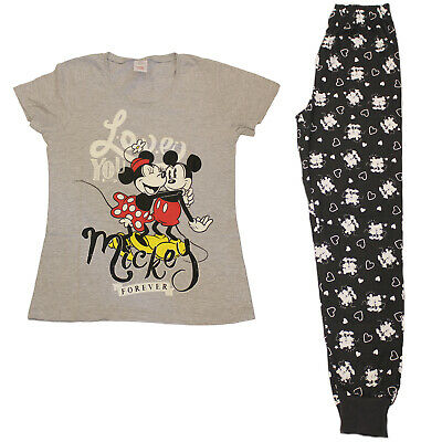 Licensed Ladies Womens Disney Minnie Mickey Pyjamas Pjs Nightwear 8-18 Pajamas