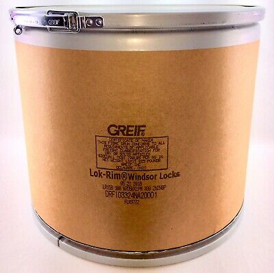 Greif Fibre Drum Shipping & Storage Container w/ Lok-Rim Metal Lid, 12 Gallon