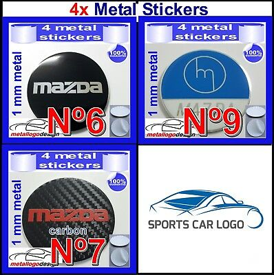METAL STICKERS WHEELS CENTER CAPS LAND ROVER 40mm to 120mm type a 4pcs