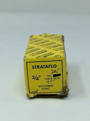 "Strataflo 3/4"" No. 385 Check Valve With Rubber Poppet"