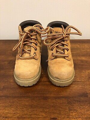 Brown Suede Boots Size 5 Toddler Boy Girl