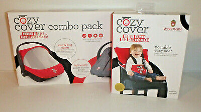 COZY COVER COMBO Pack Sun Bug Cover & Carrier Cover + Easy Seat - WISCONSIN! NEW