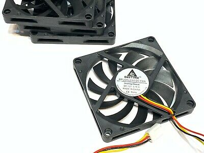 4 Pieces 8010s Gdstime 12V 2pin 80x80x10mm DC Cooling Fan large brushless C6