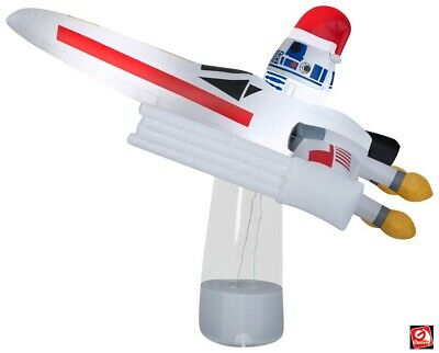 7' Gemmy Airblown Inflatable Star Wars R2D2 X-Wing Fighter Christmas Yard Decor