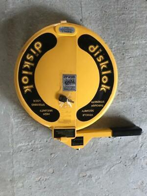 Disklok Small With One Key, Nice Condition Steering Lock Car Security