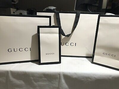 Authentic Gucci Various  Size Paper Carry Bags