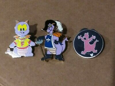 Disney Epcot 3 Pin Lot of Figment Pins one is Limited Edition