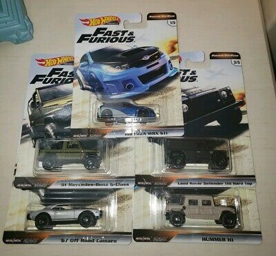 Hot wheels fast and furious 2019 Off Road Complete Set Lot of 5