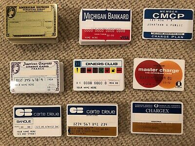 Replica New Custom Vintage Credit Card Master Charge American Express Bank Card