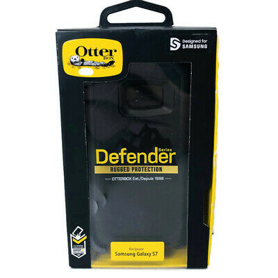 New Otterbox Defender Series Protective Black Phone Case For Samsung Galaxy S7