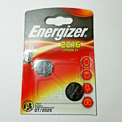 Energizer CR2016 3V Lithium Coin Cell Batteries - Pack of 2