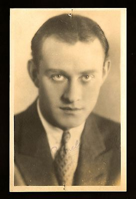 1920s Vintage CONRAD NAGEL Silent Film Movie Fan Photo Signed with Signature