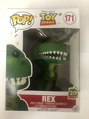 Toy Story Rex Funko 171 Pop 20th Anniversary Vaulted With Pop Protector