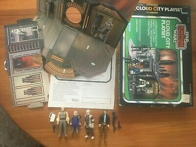 1980 vintage CLOUD CITY PLAYSET Kenner Star Wars cardboard RARE toy With Box