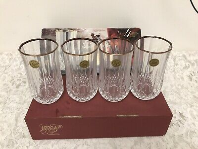 Cristal D'Arques Longchamp 24% Lead Crystal 11 3/4 oz Glass 4 HighBall Glasses