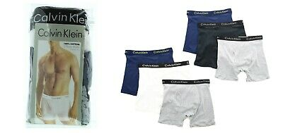 Calvin Klein Boxer Briefs Men's 3 Pack Underwear Cotton Classic Fit Two Tone