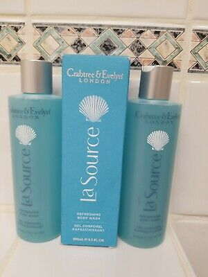 2 X Crabtree & Evelyn LA SOURCE Refreshing Body Wash 8.5 Fl Oz New In Box