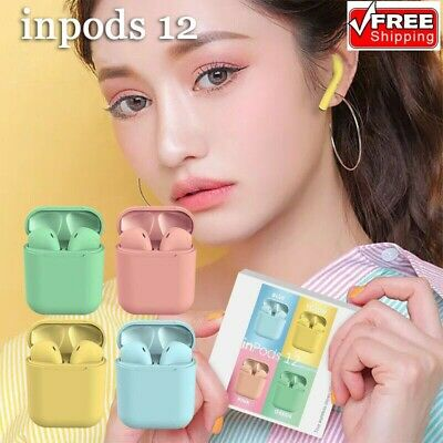 i12 TWS Bluetooth 5.0 Earbuds Wireless Colorful Earphones For iphone Android